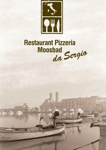 Speisekarte Restaurant Pizzeria Moosbad da Sergio
