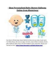 Shop Personalised Baby Shower Balloons Online from BloonAway