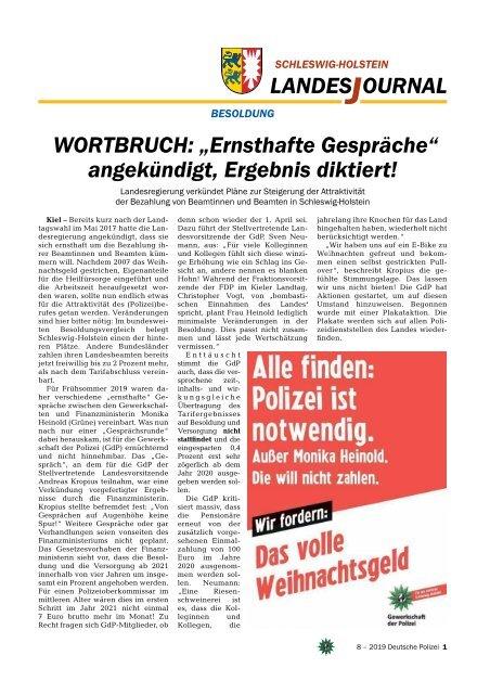 Deutsche Polizei Ausgabe 08/2019