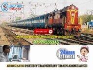 Book India's Best Leading Train Ambulance Service in Varanasi