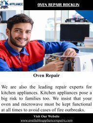 Oven Repair Rocklin