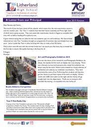 Principals Letter June 2019