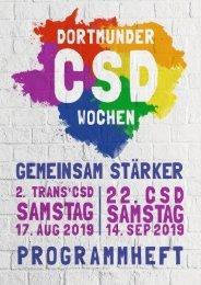 CSD Dortmund Programmheft 2019