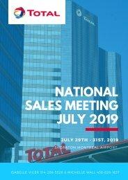 Programme Sales Meeting Juillet 2019