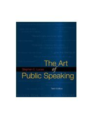 The art of Public Speaking - Stephen Lucas