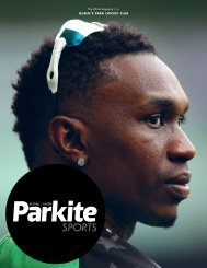 Parkite Sports Magazine (Vol.19 No.1 — July 2019)