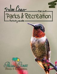 Palm Coast Parks & Recreation Activity Guide Fall 2019