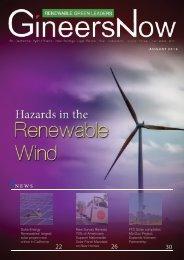 Potential Hazards of Wind Renewables, Renewable Green Leaders magazine, Aug2019