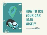 How to Use Your Car Loan Wisely