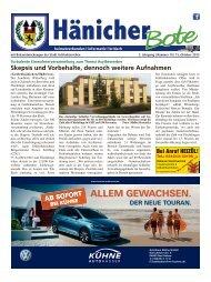 Hänicher Bote | Oktober-Ausgabe 2015