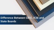Difference Between CBSE, ICSE and State Boards - JPHS