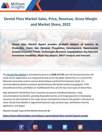 Dental Floss Market Sales, Price, Revenue, Gross Margin and Market Share, 2022
