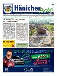Hänicher Bote | August-Ausgabe 2015