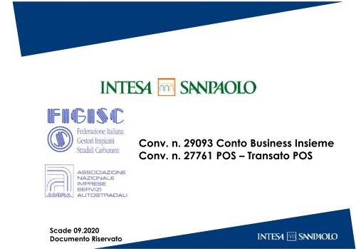 Convenzione n. 29093 Business Insieme - conv. 27761 POS e TRANSATO POS Iscritti FIGISC ANISA 07.2019