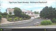 Tips From Team Hensley - Richmond Realtors®