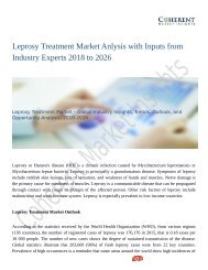 Leprosy Treatment Market To Grow Like Never Before By 2026