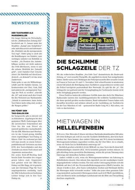 Taxi Times München - Januar 2019