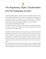 The Burgeoning Digital Transformation And The Challenges Involved