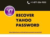 To Recover Forgot Yahoo Mail Password?
