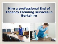 Hire a professional End of Tenancy Cleaning services in Berkshire