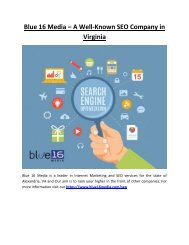 Blue 16 Media – A Well-Known SEO Company in Virginia