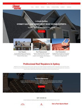 Eastern Suburbs & Inner West Roofer | A-grade Roofing