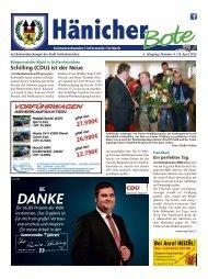 Hänicher Bote | April-Ausgabe 2015