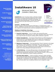 InstallAware 10 Advanced Hybrid Installers Made Easy