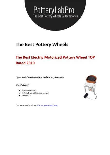 Best Pottery Wheels for Kids and Adults (Review 2019)