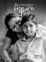 NGO Annual Report 2017-18   Aspire - TAPF Annual Report