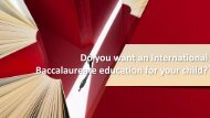 Do you want an International Baccalaureate education for your child