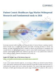 Patient Centric Healthcare App Market Set for Rapid Growth And Trend by 2026