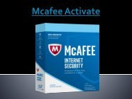 Mcafee Activate Total Protection
