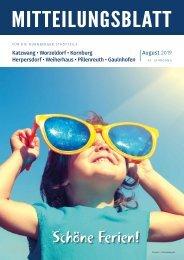 Nürnberg-Katzwang/Worzeldorf/Kornburg/Herpersdorf - August 2019