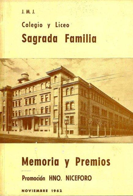 Anuario 1962 - Colegio Sagrada Familia, Montevideo.