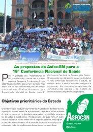 PROPOSTAS DA ASFOC PARA 16ª CONFERÊNCIA NACIONAL DE SAÚDE