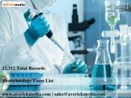 Biotechnology Email List | Biotechnology Mailing Database