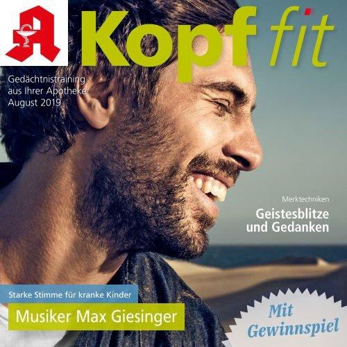 """Leseprobe """"Kopf-fit"""" August 2019"""