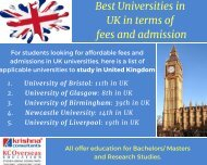 List of High Ranked University to Study in UK