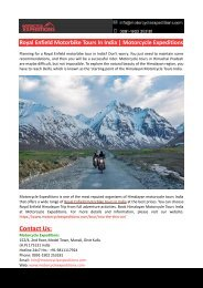 Royal Enfield Motorbike Tours In India-Motorcycle Expeditions