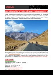 Motorbike Ride To Ladakh-Motorcycle Expeditions
