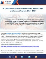 Automotive Camera Lens Market Share, Industry Size and Forecast Analysis, 2018 - 2023