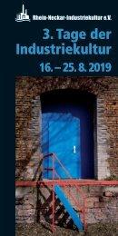 3. Tage der Industriekultur 2019