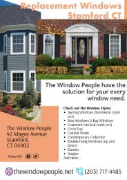 Replacement Windows Stamford CT | Different Window Styles