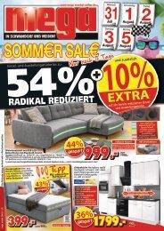 Sommer-Sale Finale - nur noch wenige Tage! mega-Möbel Schwandorf Weiden
