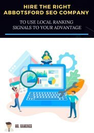 Hire the Right Abbotsford SEO Company to use Local Ranking Signals to your Advantage