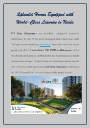 Splendid Homes Equipped with World-Class Luxuries in Noida
