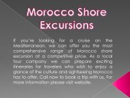 Best Morocco Shore Excursions with Pure Morocco