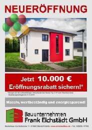 Eröffnungsflyer Eichstädtbau