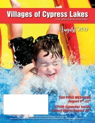 Villages of Cypress Lakes August 2019